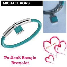 Michael Kors Padlock Bangle Bracelet Michael Kors brings a signature piece to your collection with this bangle, featuring luxe pebbled leather and a classic padlock charm for effortless style. Crafted in stainless steel. Approximate length: 7-1/2 inches. Like new condition worn once. MICHAEL Michael Kors Jewelry Bracelets