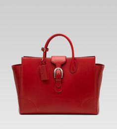 Gucci Large Tote (Red Leather)