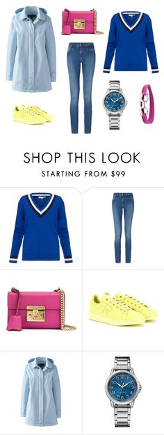 """""""colors"""" by asya-hr ❤ liked on Polyvore featuring Jonathan Saunders, Calvin Klein, Gucci, adidas, Lands' End, Tommy Hilfiger and Salvatore Ferragamo"""