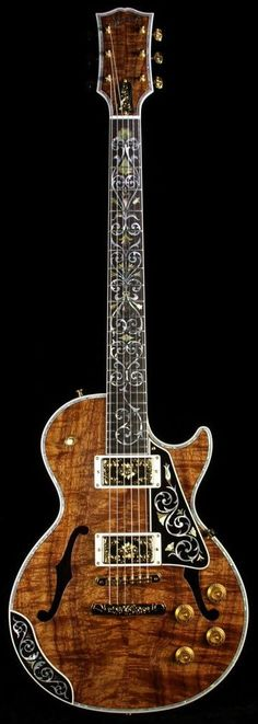 Gibson Custom Shop Bella Voce Koa Les Paul, I don't think I would play it. Guitar Pics, Jazz Guitar, Guitar Art, Music Guitar, Cool Guitar, Acoustic Guitar, Guitar Scales, Gibson Les Paul, Ukulele
