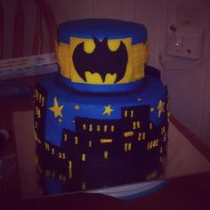 Batman cake I made for Kyle's birthday!