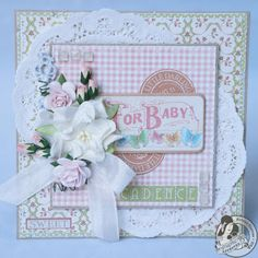 Butterfly Kisses: Little Darlings Baby Card  http://butterflykisseswithlove.blogspot.com/2013/05/little-darlings-baby-card.html