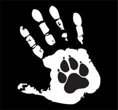 PAW PRINT DECAL, vinyl decal,animal rescue,custom,hand print,paw print,dogs,pets,animal lover