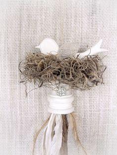 Bird Nest Tassel by junktojoyshop on Etsy, $14.00