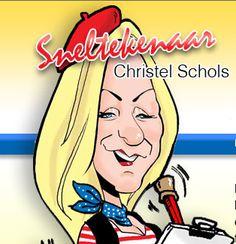 Logo sneltekenaar Christel Schols