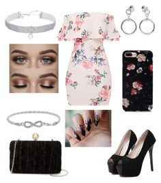 """Cute floral"" by fashionstyleideas4now on Polyvore featuring WithChic, Jessica McClintock, Rebecca Minkoff, Ana Accessories and Malin + Mila"