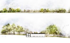 Landscape Section Elevation Drawing Aec_East-Elevation+Cross-Section — Trahan Architects - Landscape Section Elevation Drawing .Landscape Section Elevation Drawing Aec_East-Elevation+Cross-Section — Trahan Architects Gallery at Sketch Drawing Art Landscape Architecture Section, Architecture Concept Drawings, Architecture Background, Architecture Graphics, Landscape Design, Architecture Mapping, Beach Landscape, Sustainable Architecture, Photoshop