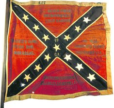 Battle Flag of the 49th Georgia Infantry Regiment.  Fought in nearly every major engagement in the East with the Army of Northern Virginia. (Georgia Capitol Museum Collection)