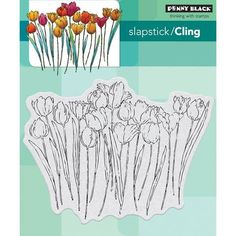 Penny Black Clear Stamps 5inch X 7inch - Tulip Queue