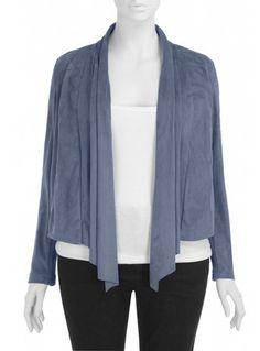 Blue suede...jacket. #plus #size #fashion