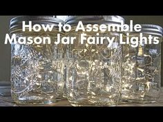 Mason Jar Fairy Lights, Wide Mouth Quart Jars, Warm White Lights, Set of 12