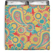 Circus Style Paisley Comforter at http://www.visionbedding.com/seamless-paisley-pattern-hand-drawn-background-queen-full-comforter-p-3093557.html