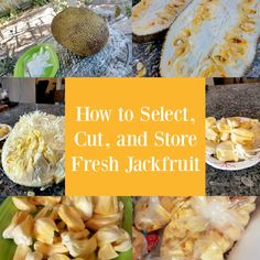 Jackfruit is a trendy farmers market find that's a healthy snack, dessert ingredient, or meat alternative. Learn how to select, cut, store fresh jackfruit! Healthy Eating Tips, Clean Eating Snacks, Healthy Snacks, Healthy Nutrition, Fresh Jackfruit Recipes, Jackfruit Dessert Recipes, Jackfruit Ideas, How To Cut Jackfruit, Gourmet Recipes