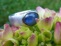MEERESLEUCHTEN - Ring Silber/Gold/Labradorit
