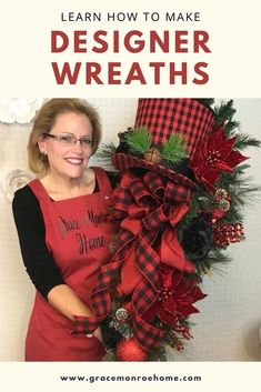 Learn to Make Wreaths - Wreath Tutorials by Grace Monroe Home #wreath #tutorial #homedecor #decorprojects #wreathmaking #wreathprojects #DIY #DIYWreath #wreathideas Diy Christmas Decorations For Home, Christmas Wreaths For Front Door, Christmas Swags, Christmas Centerpieces, Deco Mesh Wreaths, Holiday Wreaths, Yarn Wreaths, Floral Wreaths, Burlap Wreaths