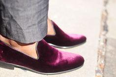 MY FASHION TRICKS: Street Style: Velvet Slippers for men!!