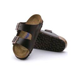 9bef3cce1 Birkenstock Arizona Soft Footbed Leather Sandal-Brown