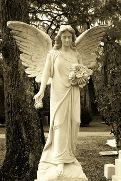 Angel of Christ Church Cemetery, St Simons Island, GA. Cemetery Angels, Cemetery Statues, Cemetery Art, Angel Statues, Cemetery Monuments, Angels Among Us, Angels And Demons, Old Cemeteries, Graveyards