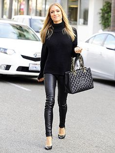 All black, casual chic... love!!