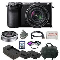 Sony Alpha NEX-7 Kit. Package Includes: NEX7 Digital Camera with 18-55mm Lens, Sony E-Mount SEL16F28 16mm f/2.8 Wide-Angle Alpha E-Mount Lens (Silver), Filter Kit, 2 Extended Life Batteries, Rapid Travel Charger, 32GB Memory Card, Memory Card Reader, HDMI Cable, Soft Carrying Case, SSE Microfiber Cleaning Cloth by Sony. $1407.98. the Sony Alpha NEX-7 Kit Includes:  - Package Includes: NEX7 Digital Camera with 18-55mm Lens - Sony E-Mount SEL16F28 16mm f/2.8 Wide-Angle Alpha...