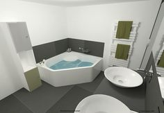 une idée pour la rénovation prochaine de la salle de bain... simple et efficace