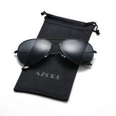 1ab6de9ec0 Classic Polarized Aviator Sunglasses Metal Frame with UV400 Protection for  Men Women
