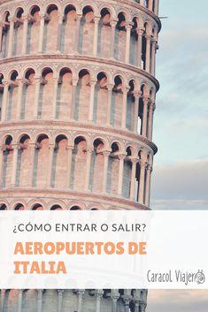 Cómo entrar o salir de los principales aeropuertos de Italia, aeropuerto de Roma, aeropuerto de Milán, aeropuerto de Florencia, Venecia, Cagliari, Génova, Nápoles y Palermo. #Italia #viajes #roma #barato