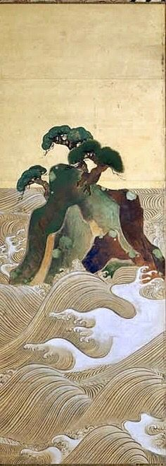 Detail. Waves at Matsushima 松島図屏風. Japanese Folding screen. Edo period. 18th century. Ogata Kôrin (Japanese, 1658–1716). After Sotatsu. MFA Boston.