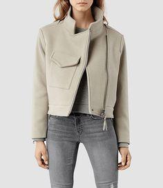 Women's Suki Cropped M65 Jacket (Pebble) -