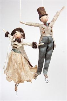 Halinka's Fairies Moon light skaters, made with real vintage clothing