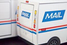Mail Truck Favor Box : DIY Printable PDF por PiggyBankParties