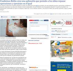 Nota de prensa sobre iCuadernos by Rubio en Qué!.