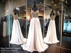 Ivory Chiffon Evening Gown-Gold Sweetheart Bodice-116JC056110