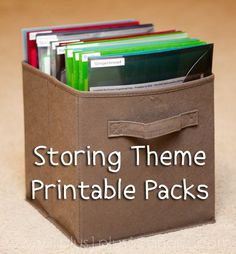 storing theme printable packs | 1+1+1=1
