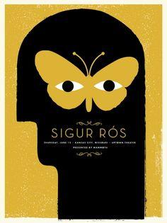 Sigur Ros Concert Poster by Vahalla Studios