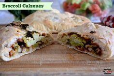 Broccoli Calzones for #SundaySupper from eatingininstead.com