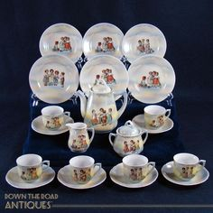 German Children's Tea Set - Complete 23-piece Set - 1910
