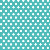 Polka Dots Turquoise fabric by indelibleink for sale on Spoonflower - custom fabric