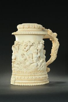 Beer Stein, Sculpture Art, Cups, Objects, Ivory, Beautiful, Glasses, Amazing, Beer Mugs
