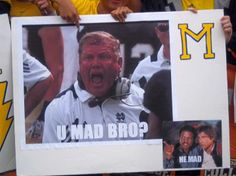 OK...Which one of you did this? *Pic from  College Game Day on ESPN. GO NOTRE DAME!