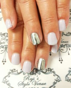 Spring Mix with Cuccio Veneer & Chrome Accent nails.