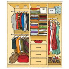 Secrets of smart closet design. | Illustration: Arthur Mount | More @This Old House.com |
