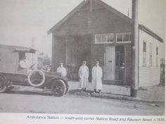 Auburn Ambulance Station at the south west corner of Station Rd and Rawson St in 1916.