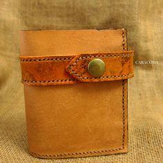 Leather mens wallet antique tan 3