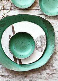 Handmade Ceramic Serving Set   susansimonini on Etsy