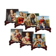 Virgin Mary art - 7 tiles collection - religious paintings by Raphael - catholic gifts - catholic art - religious icons - Madonna icons Catholic Gifts, Catholic Art, Catholic Prayers, Religious Gifts, Virgin Mary Art, Blessed Virgin Mary, Religious Icons, Religious Art, Sistine Madonna
