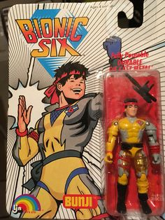 This is Bunji Bennett (aka: Karate-1) from the Bionic Six line of toys and action figures from LJN. These are part of my personal toy collection.