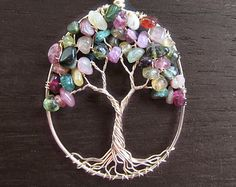 Willow Tree of Life collier 14 kt or rempli par HomeBabyCrafts