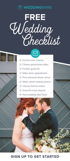 Wedding Checklist - Our free wedding planning checklist helps you manage your wedding details. The most complete wedding to-do list will keep you on track. Wedding Ceremony Checklist, Wedding Timeline, Wedding Planning Checklist, Budget Wedding, Wedding Tips, Wedding Planner, Wedding Themes, Wedding Dresses, Wedding Reception