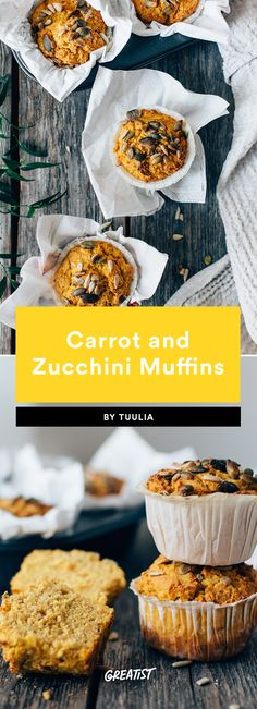 4. Carrot and Zucchini Muffins #greatist https://greatist.com/eat/gluten-free-baked-goods